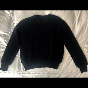 COS brand black, 100% cotton, ribbed sweater